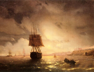Stunning-Oil-painting-Seascape-The-Harbor-At-Odessa-On-The-Black-Sea-waves-36-034