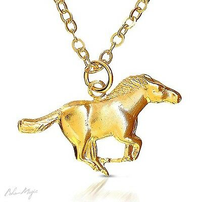 Gold Filled 14k Necklace Horse Pendant Designer Charm & Chain Lady Warranty New