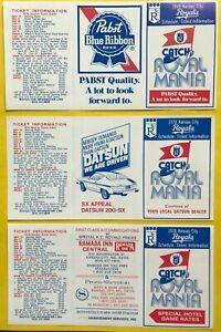 1978 Kansas City Royals 3 VERSIONS UNFOLDED Vintage Baseball schedule lot card