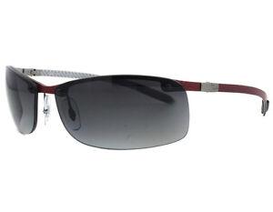 ray ban carbon fiber polarized sunglasses red rb8305 142 t3 bordeaux grey lens ebay. Black Bedroom Furniture Sets. Home Design Ideas