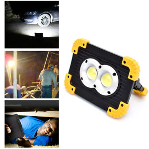 Details About 20w Cob Led Rechargeable Work Light Super Bright Floodlight Outdoor Camping Uk