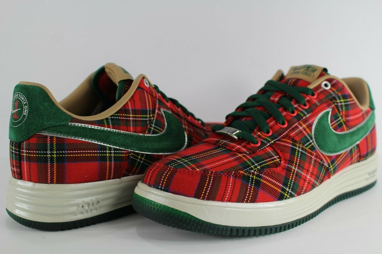 Nike Lunar Force 1 City Pack QS London Gym Red Gorge Green Plaid 10 602862-600
