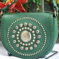 Beautiful Oryany Green Pebbled Leather Small X-body Bag With Fancy Hardware