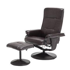 Image is loading Massage-Leisure-Recliner-Swivel-Chair-8-Motors-Leather-  sc 1 st  eBay & Massage Leisure Recliner Swivel Chair 8 Motors Leather with Ottoman ...