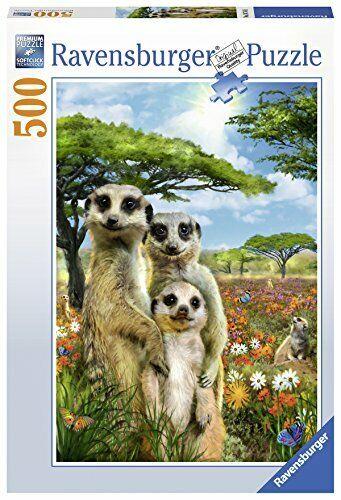 Ravensburger Mischievous Meerkats 500pc Jigsaw Puzzle - Cute Fun Animals