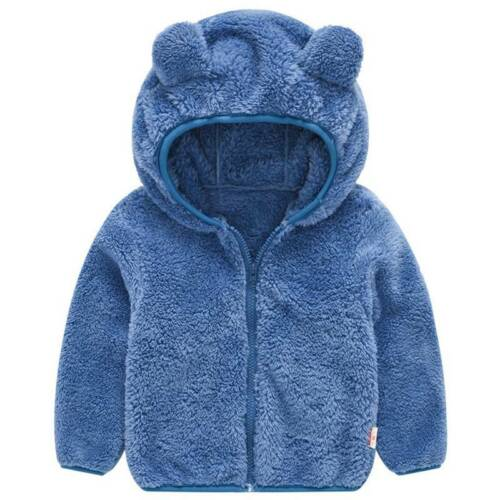 Girl Boy Baby Kids Fleece Coat Jacket Winter Hooded Warm Parka Faux Fur Outwear