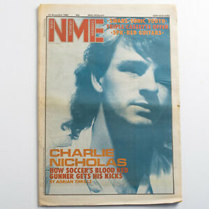 NME magazine 24 November 1984 Charlie Nicholas Arsenal FC cover Sonic Youth