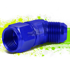 12AN AN12 AN-12 3/4 MALE TO FEMALE BULKHEAD FLARE BLUE ALUMINUM FINISHED FIMENT