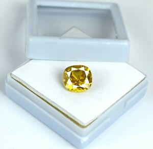 Ceylon-Yellow-Sapphire-Loose-Gemstone-6-8-Ct-Natural-Cushion-Cut-AGI-Certified