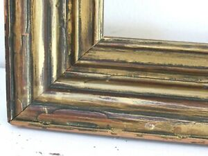 1900-s-ART-amp-CRAFTS-HAND-CARVED-GILDED-WOOD-FRAME-FOR-PAINTING-18-X-16-INCH