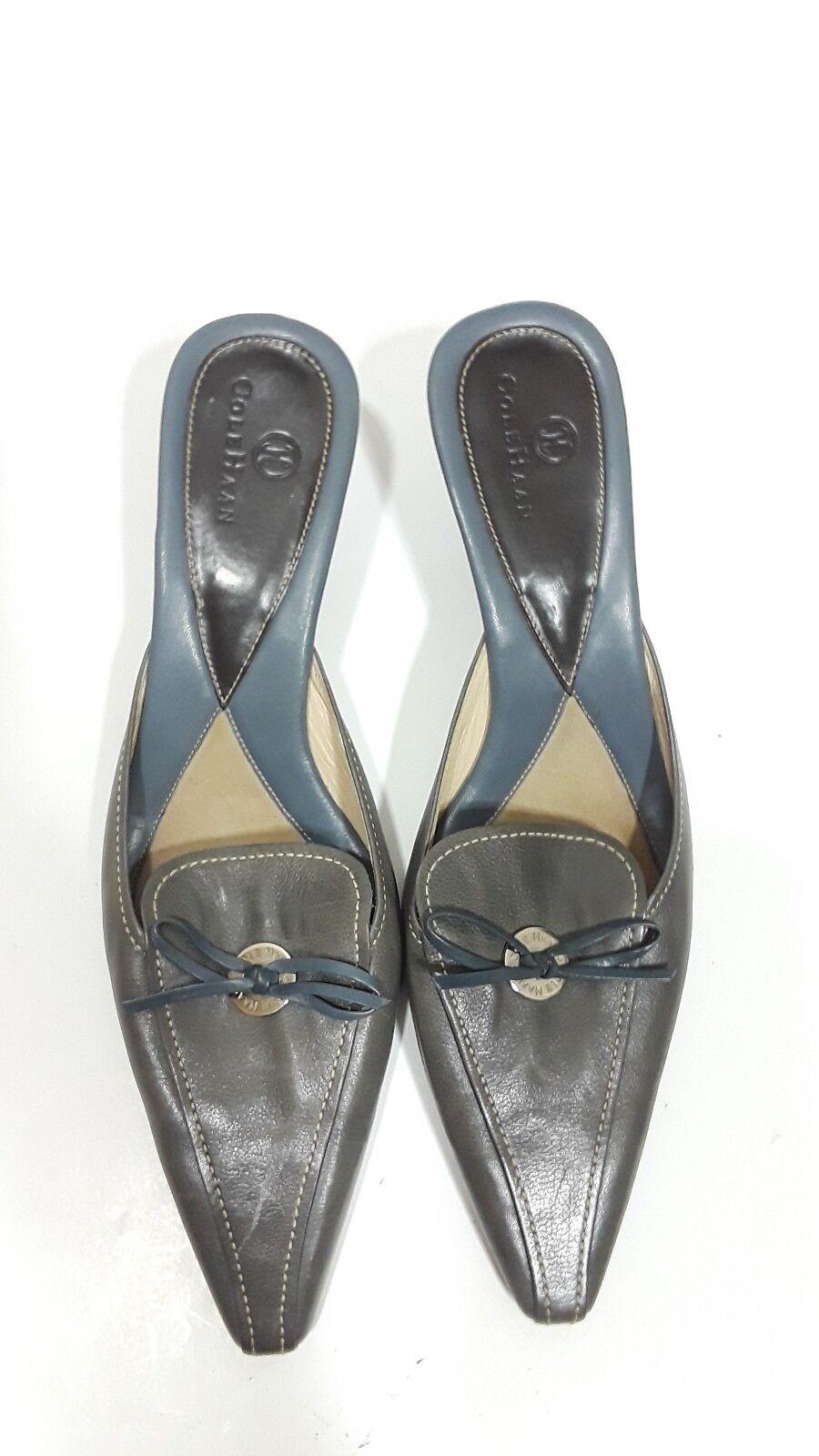 Cole Haan leather kitten 8.5 heels/mules made in Brazil 8.5 kitten b 17b82d