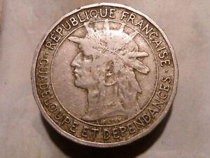GUADELOUPE-BON-POUR-1-FRANC-1903-RARE-amp-QUALITE-TB