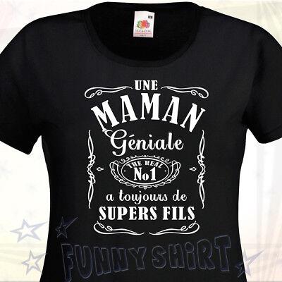 Maman géniale  Drôle Humour Fête des mères T-SHIRT FEMME Super idée cadeaux