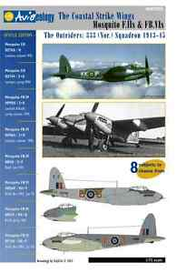Outrider-Mosquito-F-II-amp-FB-IVs-333-Sqn-1-72-scale-Aviaeology-Decals-039-n-Docs