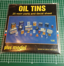 PLUSMODEL PLUS MODEL 106 - OIL TINS - 1/35 RESIN KIT