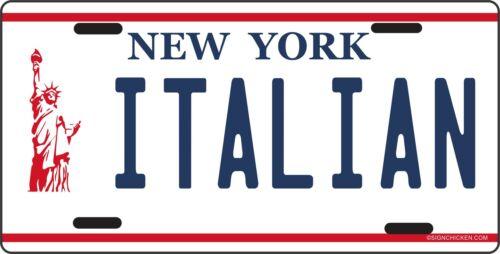 License Plate auto tag NYC NY New York LIBERTY Italy long island ITALIAN