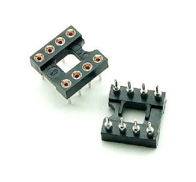 10Pcs 6 PIN Round DIP IC Sockets Adaptor Narrow Good Quality