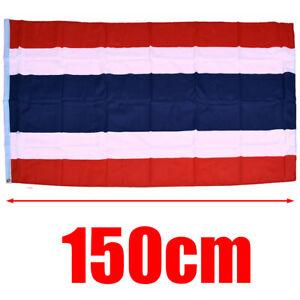 5ft-x-3ft-Large-Polyester-Thailand-Flag-Large-Thai-Flag-Banner-With-2-Eyelets