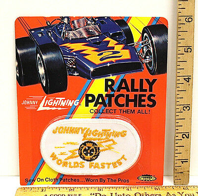1972 Topper Toys Nj Usa Johnny Lightning Diecast Car Rally Patch Worlds Fastest With The Best Service