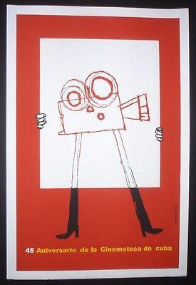 ZORRO Cuban Silkscreen Poster by BACHS for French Italian Movie HAVANA CUBA ART