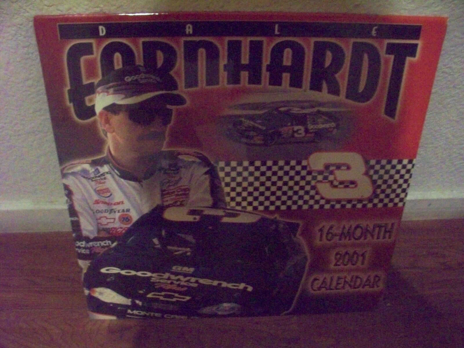LOW   NICE COLLETABLE  DALE EARNHARDT 2001 CALENDAR 16 MONTH SEALED NEW VINGAGE