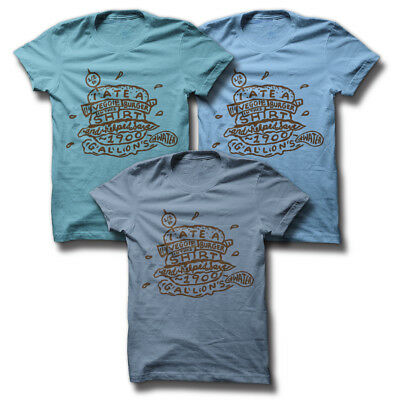 T-Shirt Kids//Youth VEGGIE TALES DOGGIES NEED LOVE AND DONUTS Blue NEW