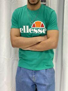 ELLESSE-HERITAGE-T-Shirt-Maglia-Casual-Uomo-Mezza-Manica-Di-Cotone-Girocollo