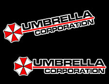 4 Umbrella Corporation WHITE Die-Cut Logo Resident Evil Vinyl Decal Sticker JDM