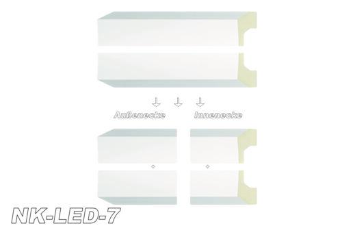 Innenecke Außenecke Stuckdekor Dekor für LED-Stuckleiste Zierleiste NK-LED 20cm