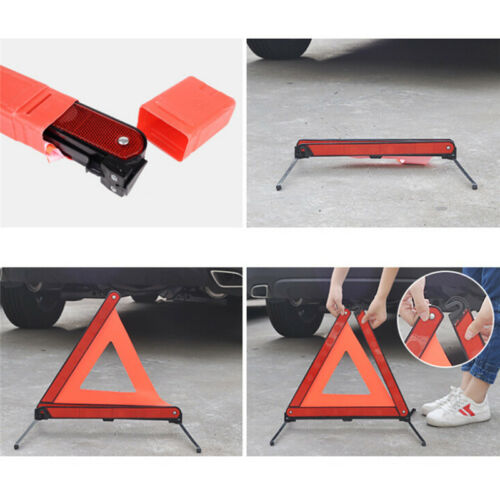Large Warning Car Triangle Reflective Road Emergency Breakdown Safety Signs Hy