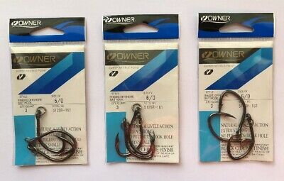 OWNER 4//0 Offshore Ringed Hooks Saltwater XX Strong 5129R-141 4 pcs//pk Size 4//0