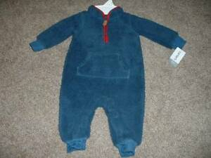fe43f294c Carters Baby Boy Blue Sherpa Fleece One-Piece Outfit Size 6 Months ...