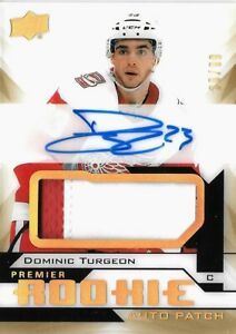 2018-19-PREMIER-034-GOLD-034-ROOKIE-DOMINIC-TURGEON-R-C-AUTO-PATCH-SP-99-RED-WINGS