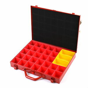 Compartment Case Storage System Metal Organiser Screw Tool
