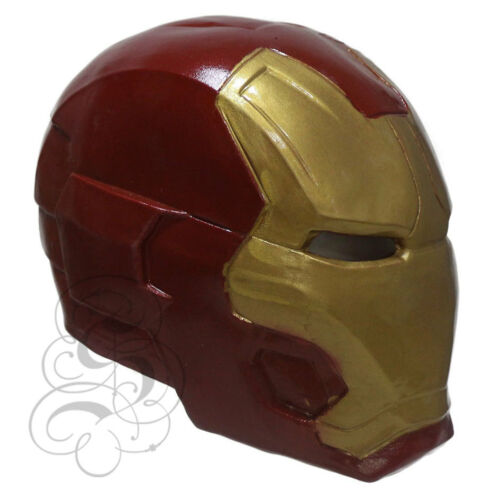 Latex Full Face Iron Man Avengers Superhero Fancy Dress Horror Theme Props Mask