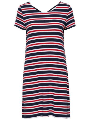 Only Damen kurzes schwarzes Jersey-Kleid onlBera Lace Up elastisch Gr XL XS