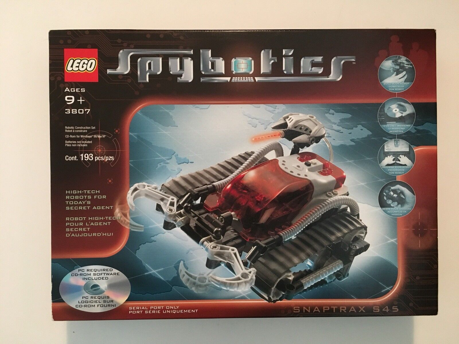 Lego spybotics Snaptrax S45 3807 programmable Robot, New in Box