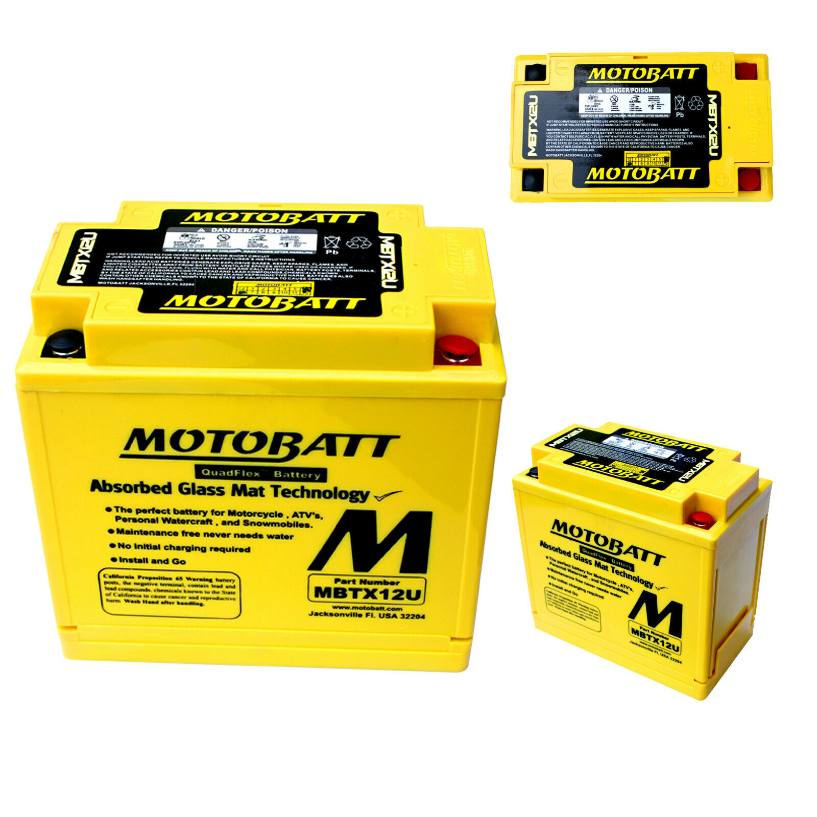 Motobatt Battery For Polaris Rush RMK 800cc 11-14 Switchback