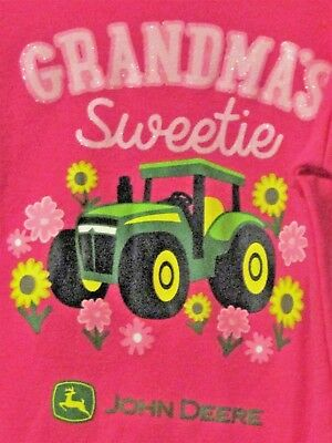 john deere little girls one piece pink w light pink grandma s sweetie ebay ebay