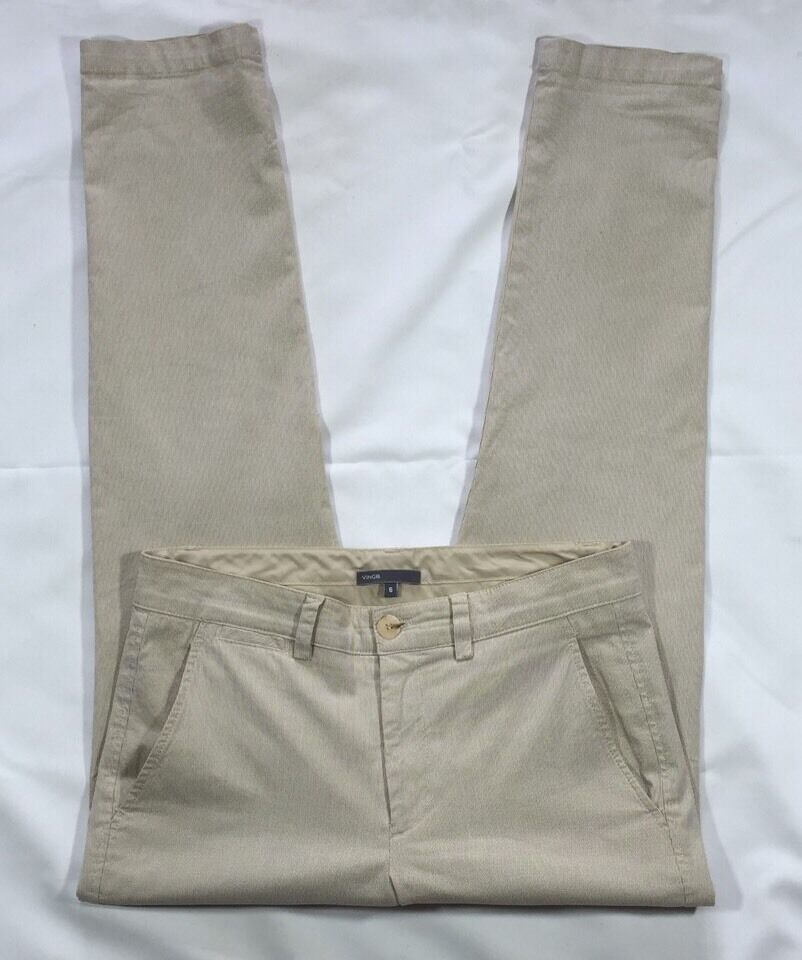 Women's Vince by Vince Camuto Taupe Striped Ankle Pants-Size 6