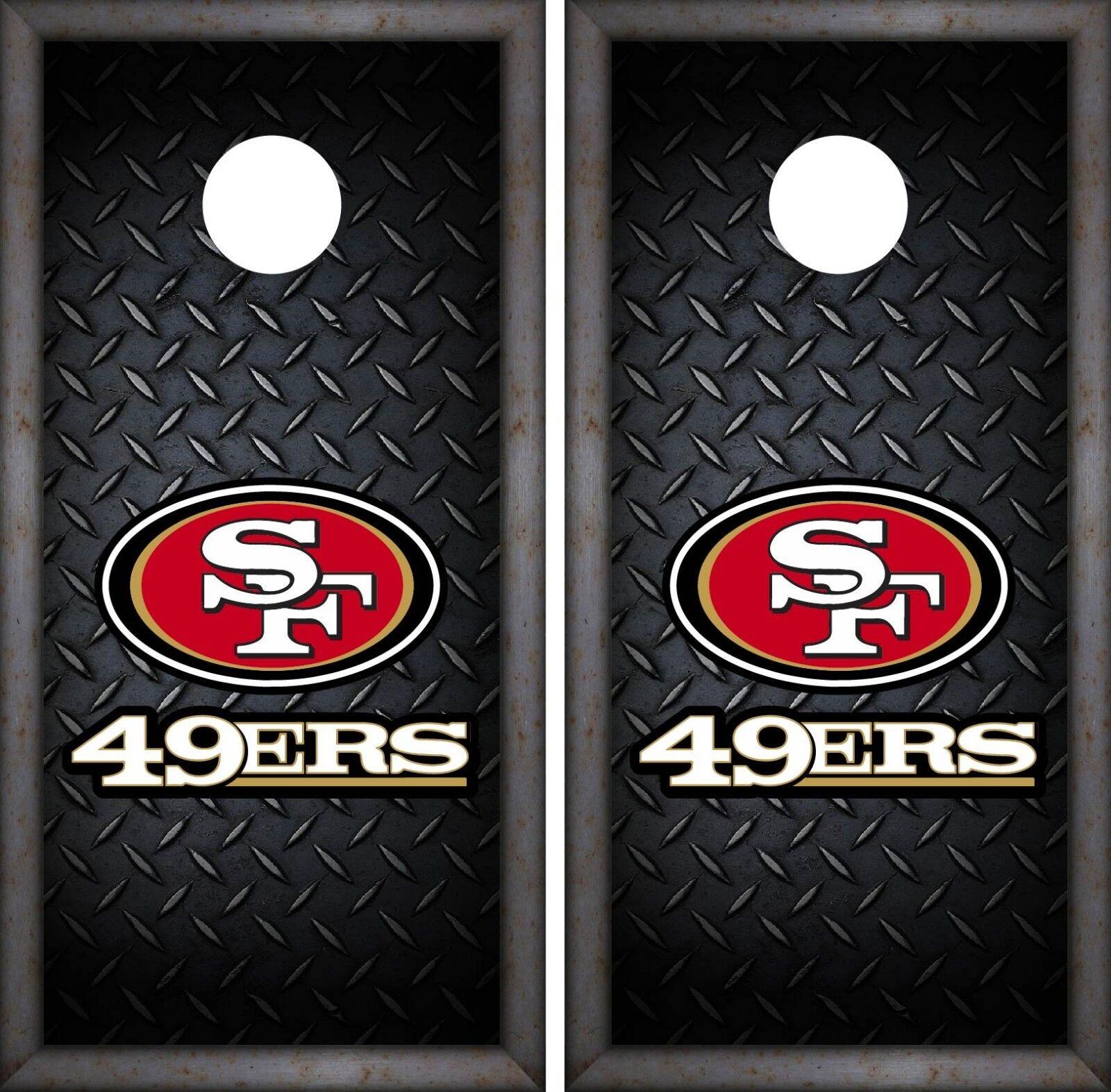 San  Francisco 49ERS Cornhole Luxury Wrap NFL Game Skin Board Set Vinyl Art CO114  selling well all over the world