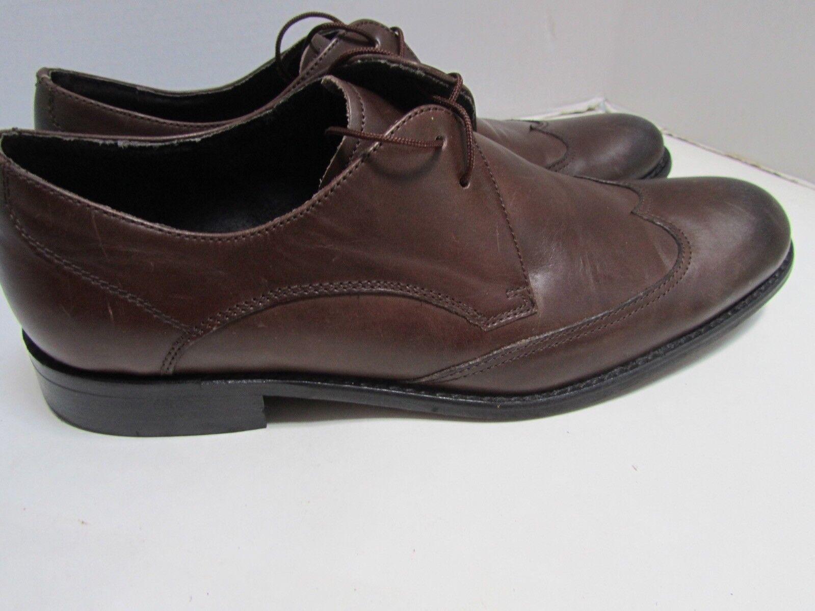 John Varvatos braun Leather Wingtip Wingtip Wingtip Oxfords Loafers schuhe Ombre 8 EXC 5fc72d