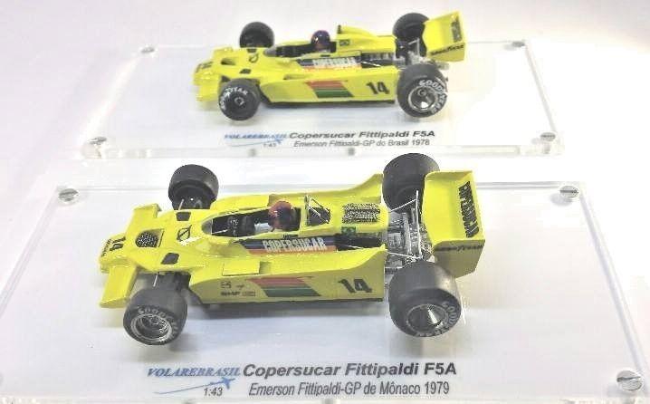 VOLAREBRASIL 1/43 MINIATURE F1 COPERSUCAR FITTIPALDI F5A GP GP GP MONACO 1979 EMERSON c45a78