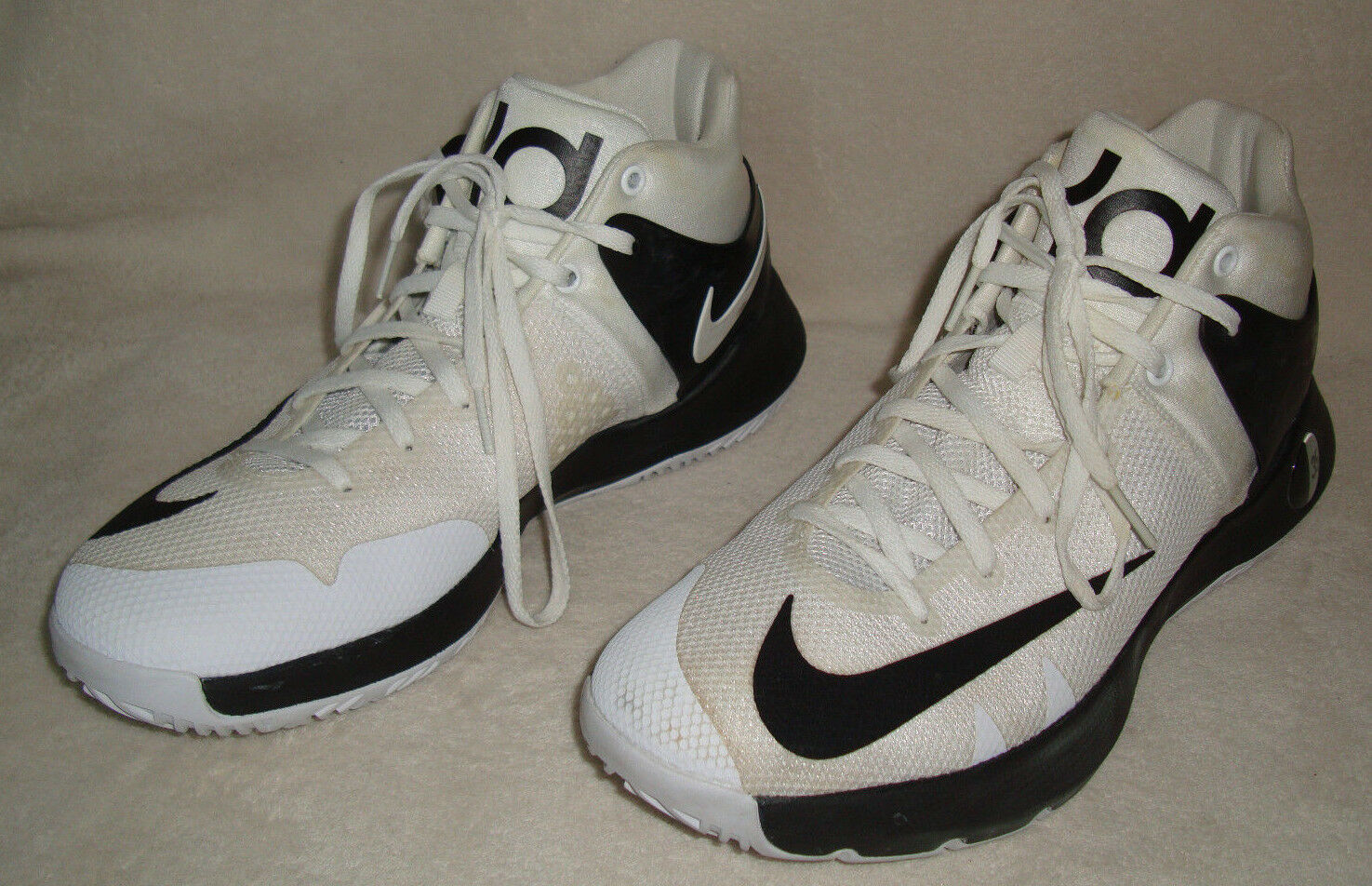 NIKE KD TREY 5 IV TB MEN'S WHITE BLACK BASKETBALL SHOES SIZE 8.5D  New shoes for men and women, limited time discount