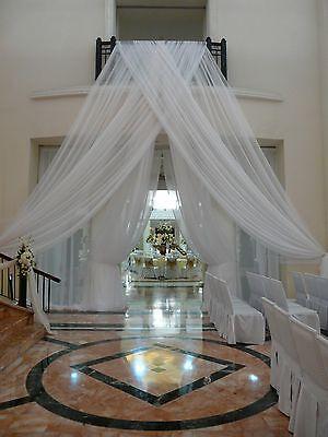 """Wedding backdrop drapes set of 2 panels 12' x 56"""" White, Ivory, black  or pink"""