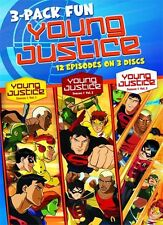 Young Justice . Season 1 . Episodes 1-12 . Volume 1 2 3 . 3-Pack . 3 DVD . NEU