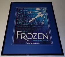 Frozen the Broadway Musical 2018 11x14 Framed ORIGINAL Advertisement
