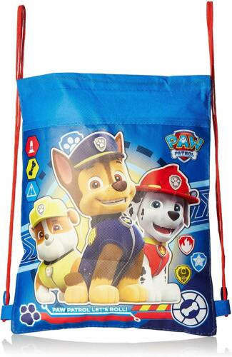 Paw Patrol Non-Woven Sling Bag Drawstring Backpack School Sport Gym Bag