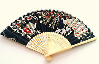 Chinese Bamboo Folding Fan Hnad Fan Peacock And Floral Design
