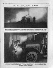 Canon Artillerie Lourde Poilus Controle Militaire Bataille de la Somme 1915 WWI